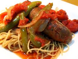 Italian Sausage with onions and green pepper