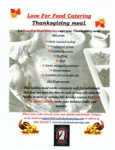 Thanksgiving Picture of Flyer